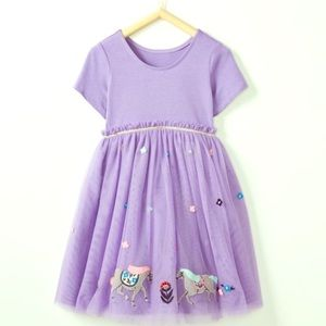 New Hanna Andersson tulle horse dress - size 90 3t